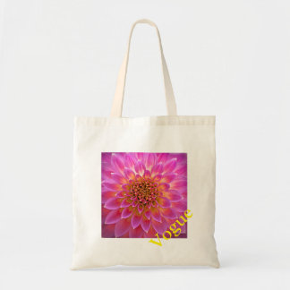 La bolsa de asas rosada floreciente de la flor de