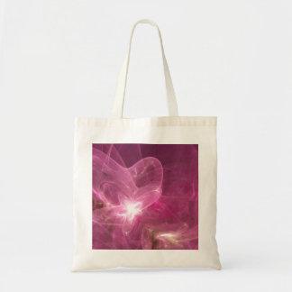La bolsa de asas rosada y bonita