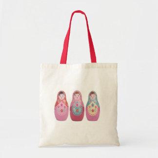 la bolsa de asas rusa de la muñeca
