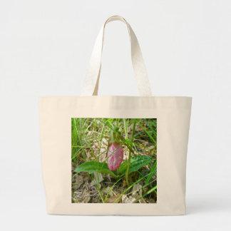 La bolsa de asas salvaje de la orquídea de señora