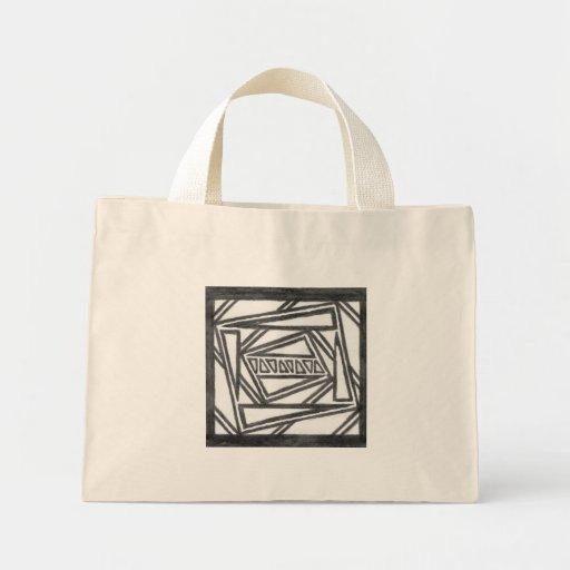 La bolsa de asas simétrica dibujada mano del