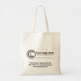 La bolsa de asas simple y de encargo de su logotip