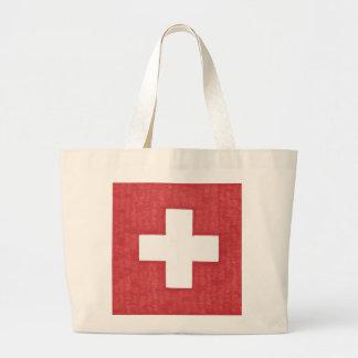 La bolsa de asas suiza del jumbo de la bandera