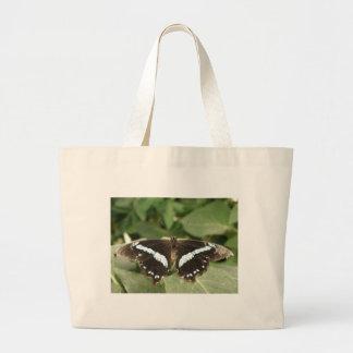 La bolsa de asas tropical blanco y negro de la mar
