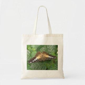 La bolsa de asas tropical bonita de la mariposa de