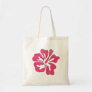 La bolsa de asas tropical de la flor del hibisco -