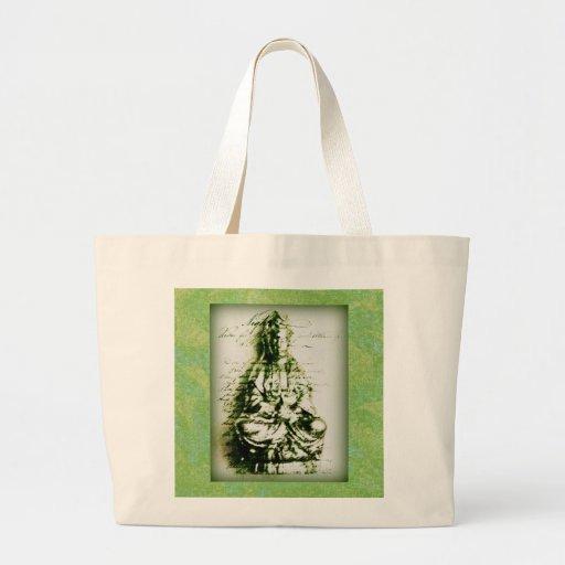 La bolsa de asas verde antigua de Kwan Yin