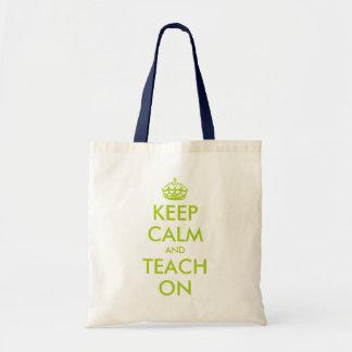 La bolsa de asas verde el   KeepCalm del profesor