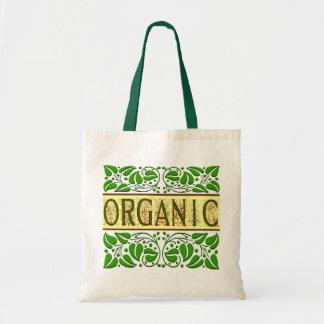 La bolsa de asas verde orgánica del lema