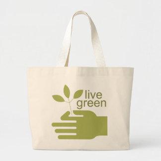 La bolsa de asas verde viva
