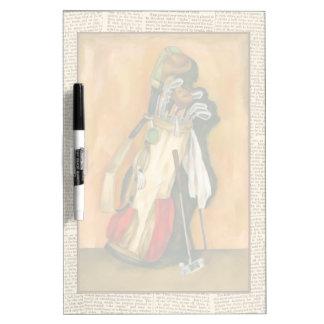 La bolsa de golf con el guante de Jennifer Pizarra Blanca
