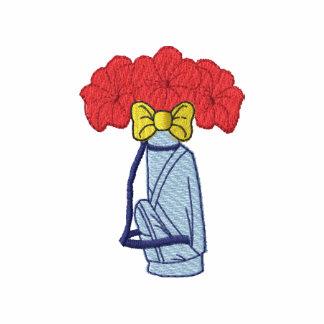 La bolsa de golf con las flores