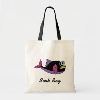 La bolsa de libros de mirada colorida divertida