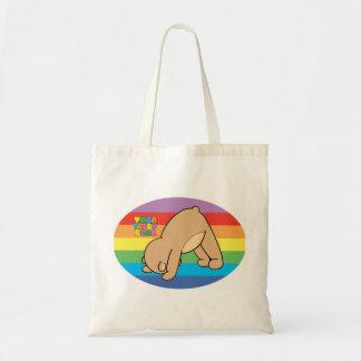 La bolsa de libros del arco iris del oso de