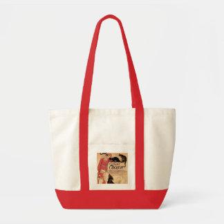 La bolsa de libros del mascota de Nouveau del arte