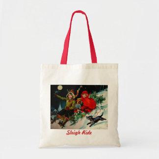 La bolsa de libros del tote del navidad del paseo