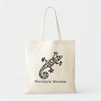 La bolsa de libros negra y blanca nombrada Gecko d