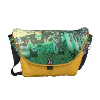 La bolsa de mensajero abstracta adaptable verde bolsas de mensajeria
