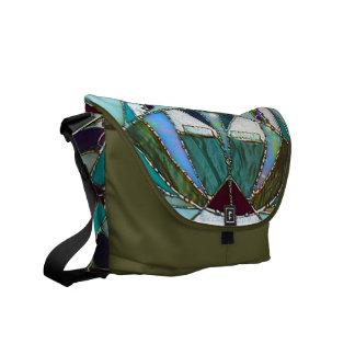 La bolsa de mensajero abstracta de la bella arte d bolsas de mensajería