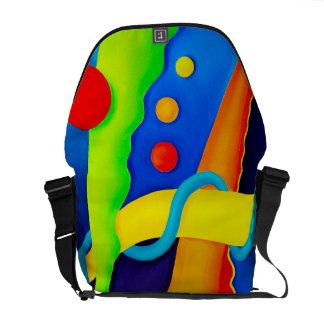 La bolsa de mensajero abstracta del carrito bolsa messenger