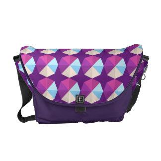 La bolsa de mensajero abstracta geométrica del bolsas messenger