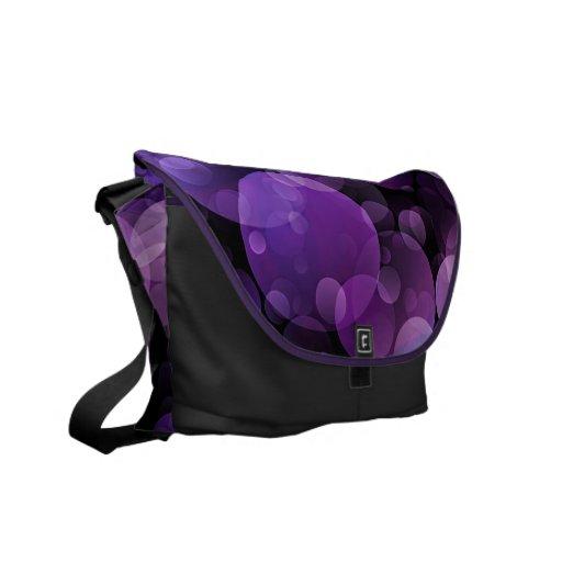 La bolsa de mensajero abstracta púrpura Amethyst d Bolsas De Mensajeria