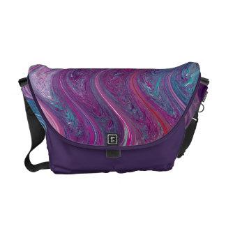 La bolsa de mensajero abstracta púrpura del carrit bolsas messenger
