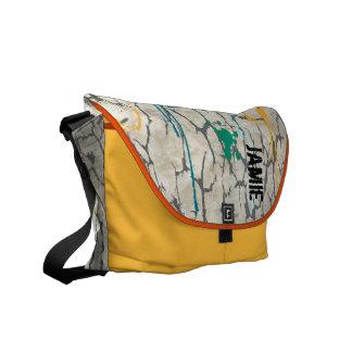La bolsa de mensajero agrietada personalizada de bolsas messenger