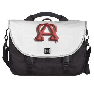 La bolsa de mensajero alfa y de Omega Bolsa De Ordenador
