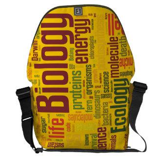 La bolsa de mensajero amarilla de la biología bolsa de mensajeria