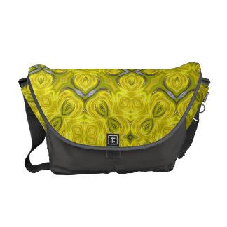 La bolsa de mensajero amarilla del carrito del dam bolsas de mensajería