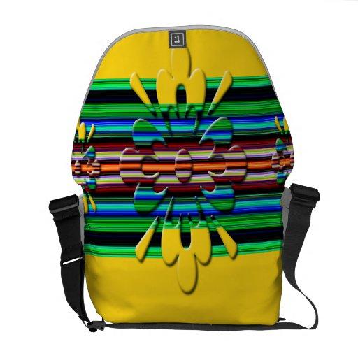 la bolsa de mensajero amarilla loca del carrito bolsas de mensajeria