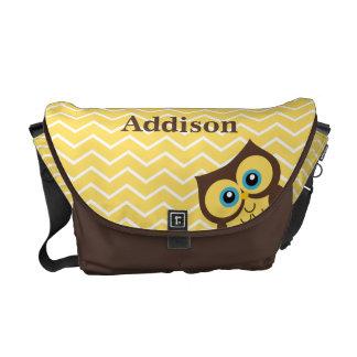La bolsa de mensajero amarilla personalizada de la bolsa messenger