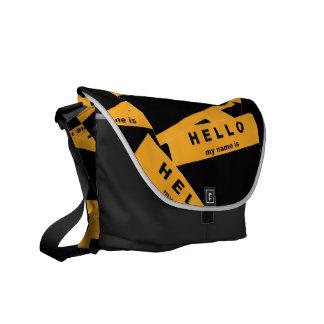 La bolsa de mensajero (ambarina) del ébano de Merh Bolsa Messenger