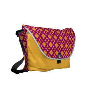 La bolsa de mensajero anaranjada del diamante bolsa messenger