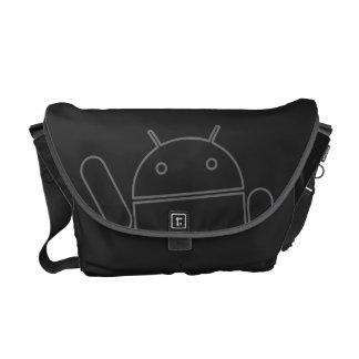 La bolsa de mensajero androide del carrito que agi bolsas de mensajeria