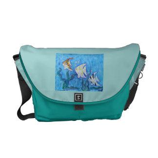 La bolsa de mensajero - Angelfish tropical Bolsas De Mensajeria