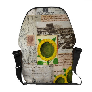 La bolsa de mensajero antigua del italiano de Roma Bolsas De Mensajería