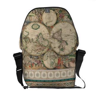 La bolsa de mensajero antigua del mapa - SRF Bolsa De Mensajeria