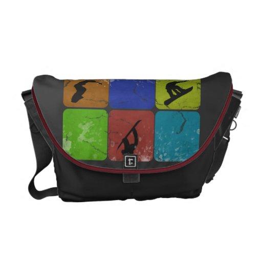 La bolsa de mensajero apenada de la snowboard bolsas de mensajeria