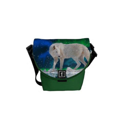 La bolsa de mensajero ártica del lobo, de la nieve bolsas messenger