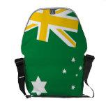 La bolsa de mensajero australiana de la bandera qu bolsas messenger