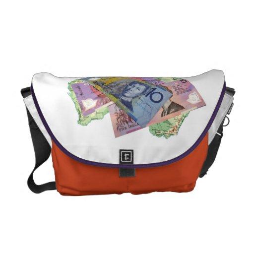 La bolsa de mensajero australiana del dinero bolsas de mensajería