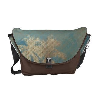 la bolsa de mensajero azul beige del modelo del ma bolsas messenger