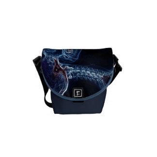 La bolsa de mensajero azul de la C-espina dorsal ( Bolsa De Mensajería