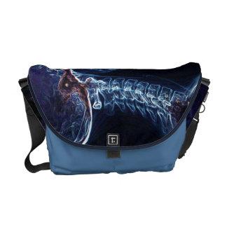 La bolsa de mensajero azul de la C-espina dorsal Bolsas De Mensajería
