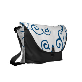 La bolsa de mensajero (azul) de la marfil del cirr bolsas messenger