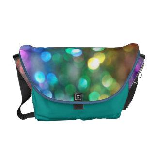 La bolsa de mensajero azul de las luces del oro bolsas messenger
