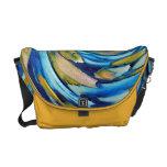 La bolsa de mensajero azul del carrito del arte ab bolsas de mensajeria