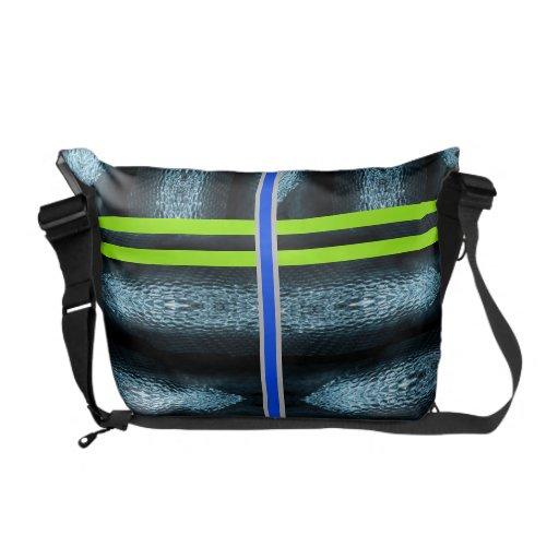 La bolsa de mensajero azul del carrito del pitón bolsas messenger